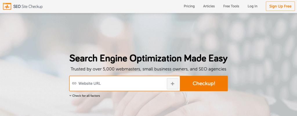 SEO SiteCheckup-seo-analysis-tool