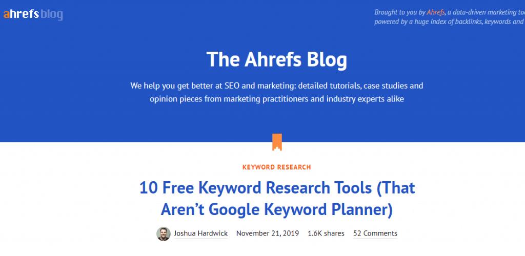 ahref blog