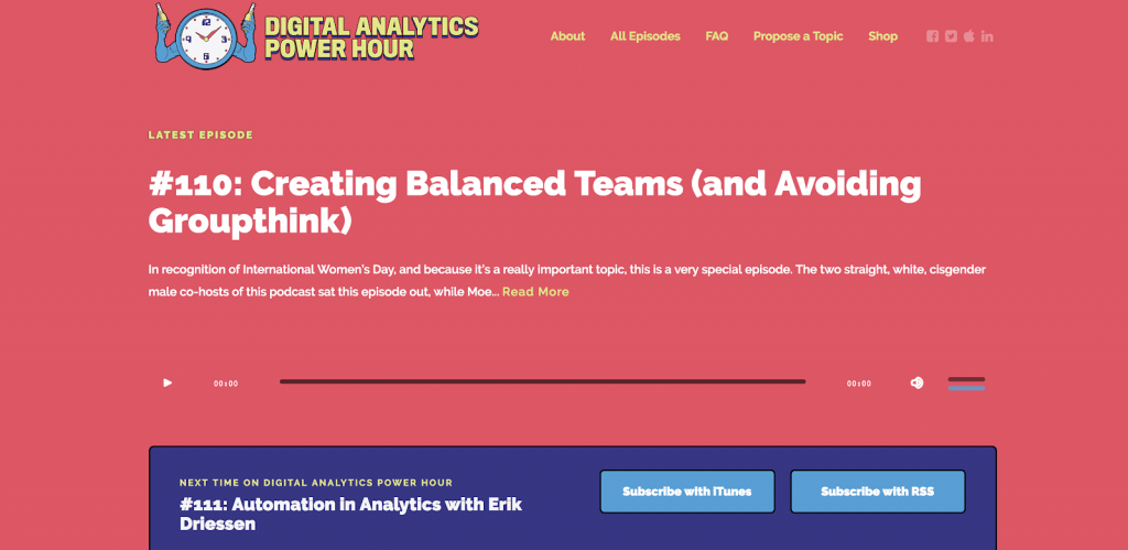 The Digital Analytics Power Hour podcast