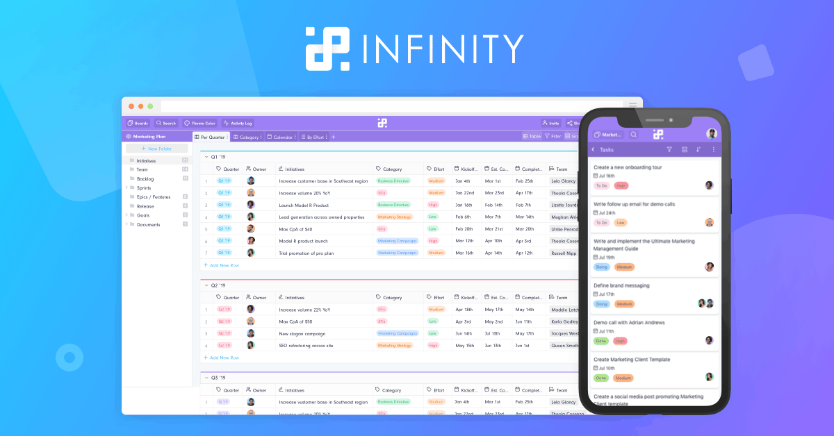 infinity-project-management-tool