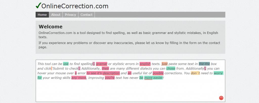 online-correction