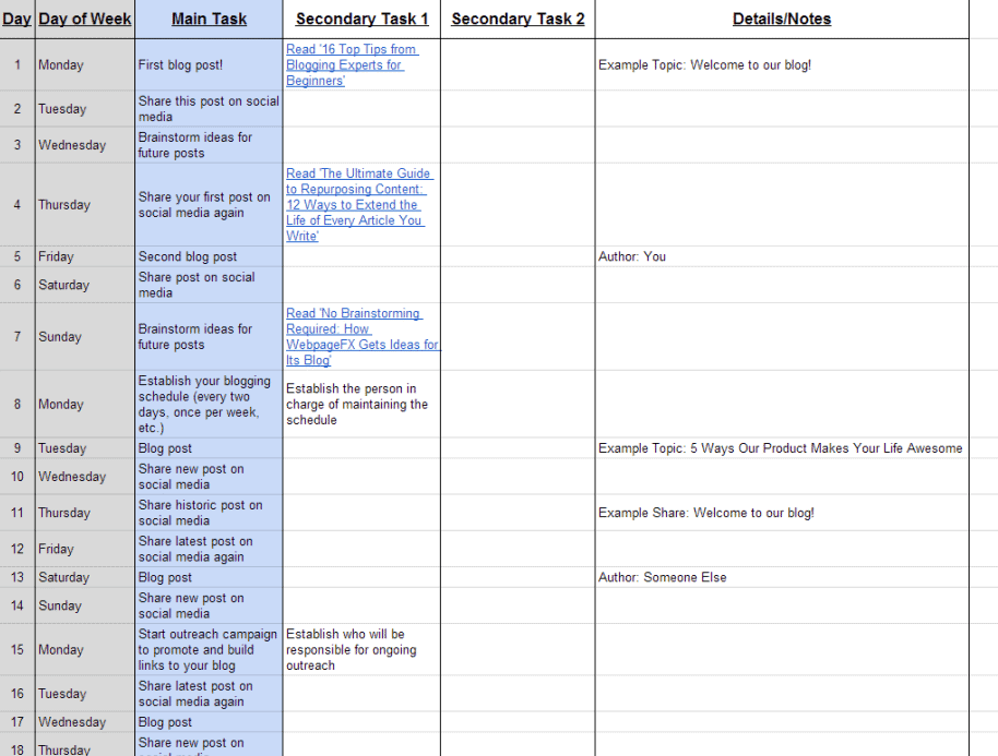 blogging-content-schedule