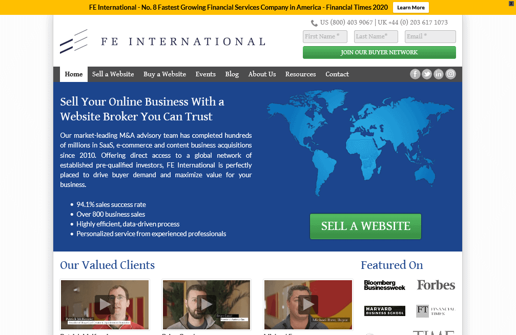 FE_International_Professional_Website_Broker