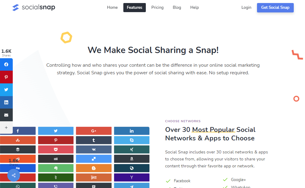 social-snap-features