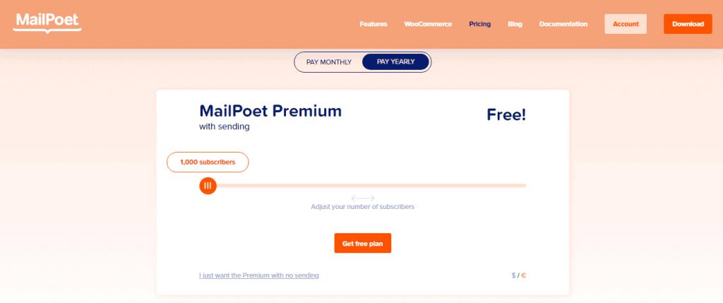 Mailpoet-pricing