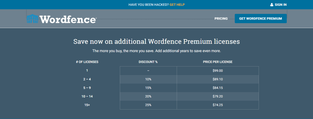 Wordfence-Pricing