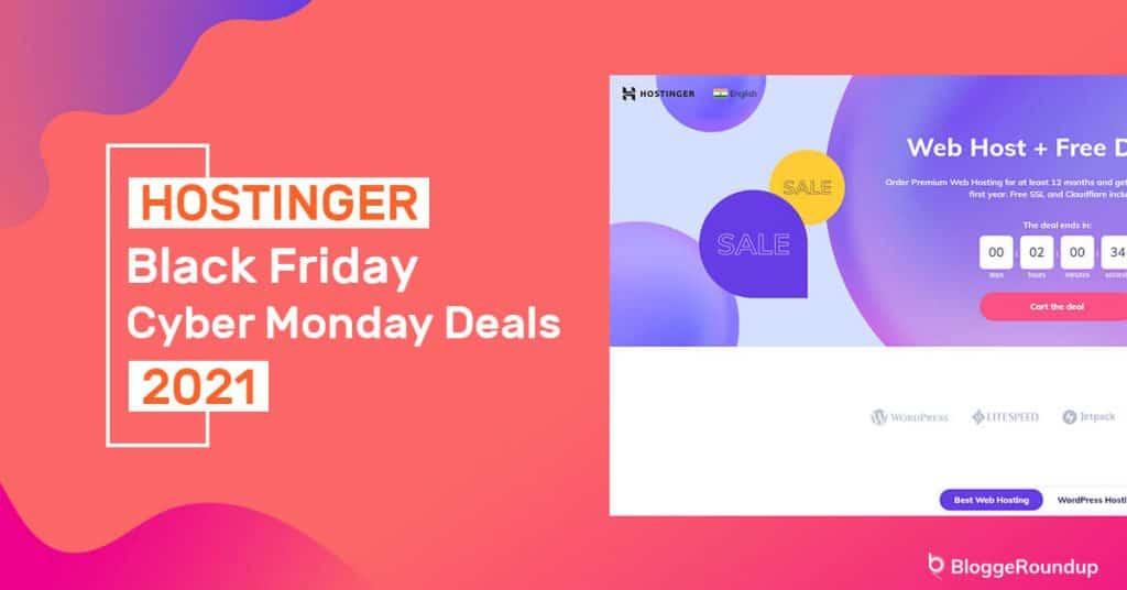 Hostinger Black Friday Cyber Monday Deals 2021 [Up To 90% OFF]